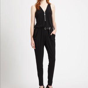 Michael Kors Black Jersey Jumpsuit with Zips